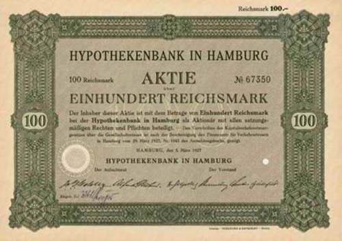 Hypothekenbank in Hamburg