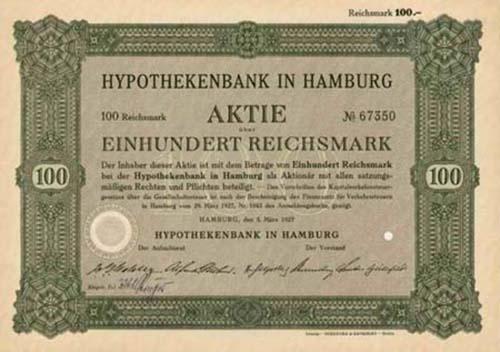 Hypothekenbank in Hamburg