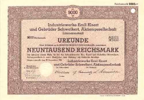 Industriewerke Emil Eisert und Gebrüder Schweikert