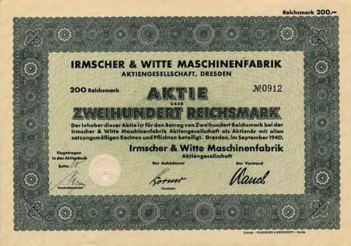 Irmscher & Witte Maschinenfabrik