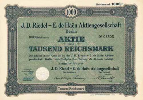J. D. Riedel - E. de Haen