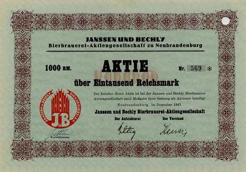 Janssen und Bechly Bierbrauerei