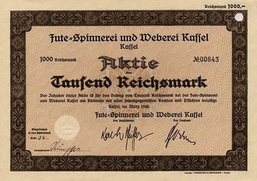 Jute-Spinnerei und Weberei Kassel
