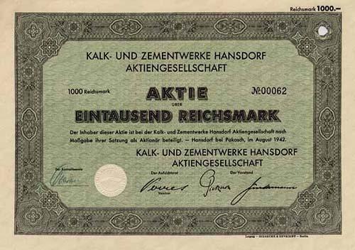 Kalk- und Zementwerke Hansdorf