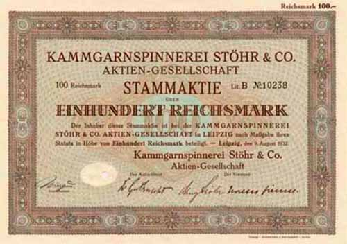 Kammgarnspinnerei Stöhr & Co.