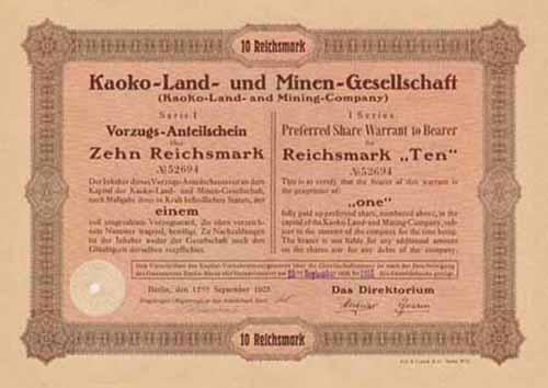 Kaoko-Land- und Minen-Gesellschaft