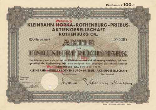 Kleinbahn Horka-Rothenburg-Priebus