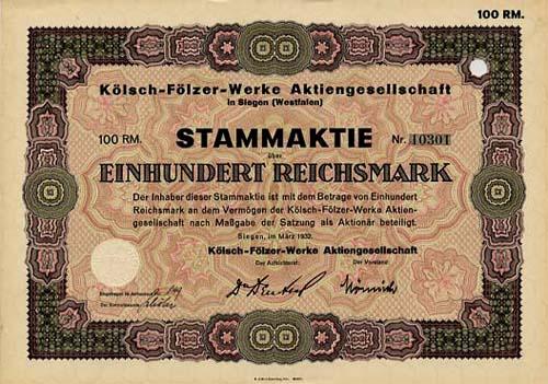 Kölsch-Fölzer-Werke