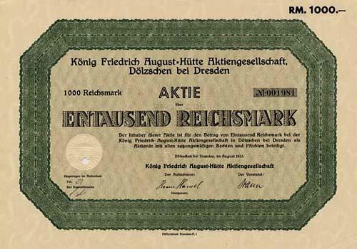 König Friedrich August-Hütte