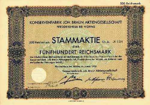 Konservenfabrik Joh. Braun