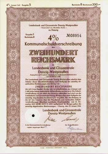 Landesbank und Girozentrale Danzig-Westpreußen