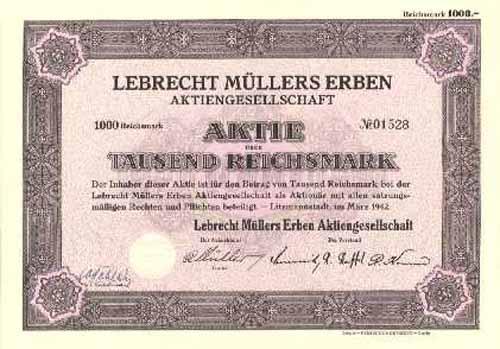 Lebrecht Müllers Erben