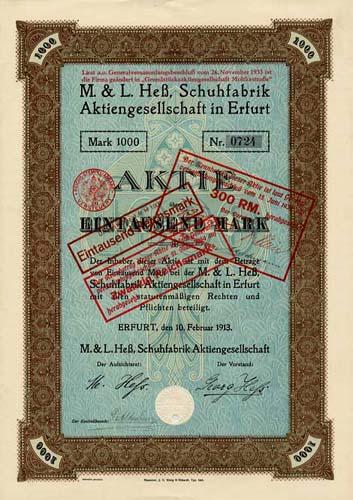 M. & L. Heß, Schuhfabrik