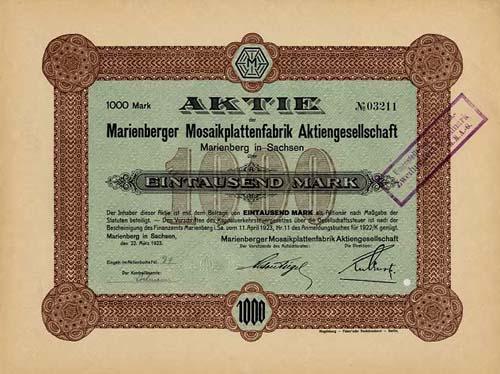 Marienberger Mosaikplattenfabrik
