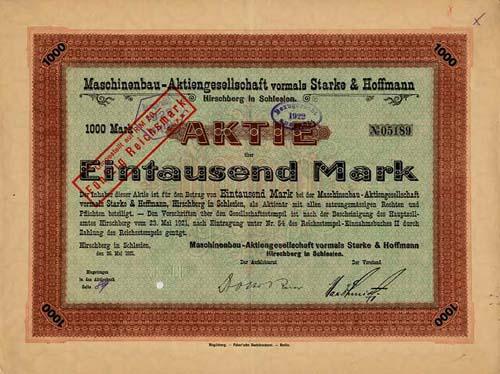 Maschinenbau-AG vormals Starke & Hoffmann