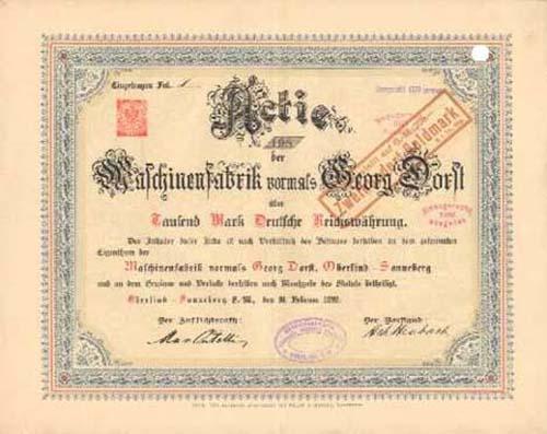 Maschinenfabrik vormals Georg Dorst