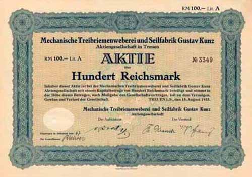 Mechanische Treibriemenweberei und Seilfabrik Gustav Kunz