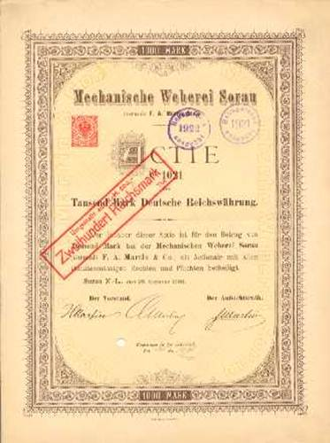 Mechanische Weberei Sorau vorm. F.A. Martin & Co.