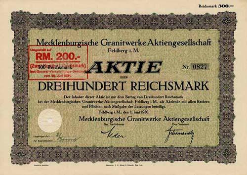 Mecklenburgische Granitwerke