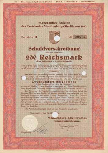 Freistaat Mecklenburg-Strelitz