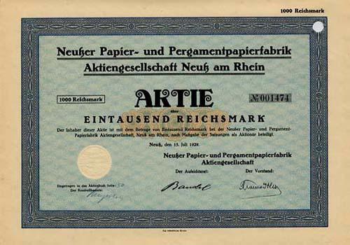 Neußer Papier- und Pergamentpapierfabrik