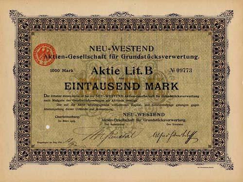 NEU-WESTEND AG für Grundstücksverwertung