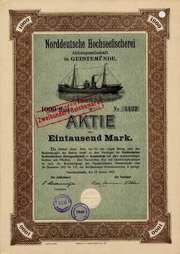 Norddeutsche Hochseefischerei in Geestemünde