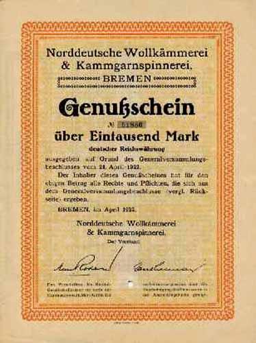 Norddeutsche Wollkämmerei & Kammgarnspinnerei