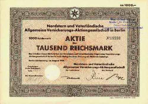 Nordstern und Vaterländische Allgemeine Versicherungs-AG