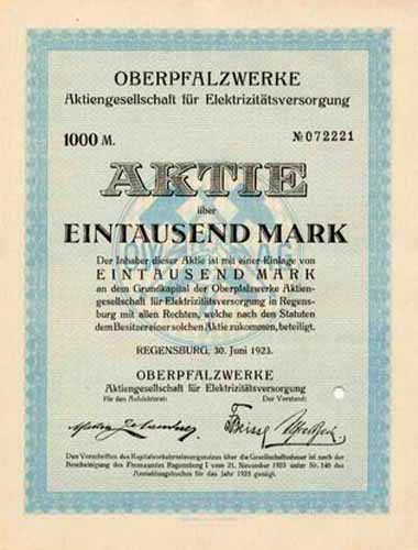 Oberpfalzwerke AG für Elektrizitätsversorgung