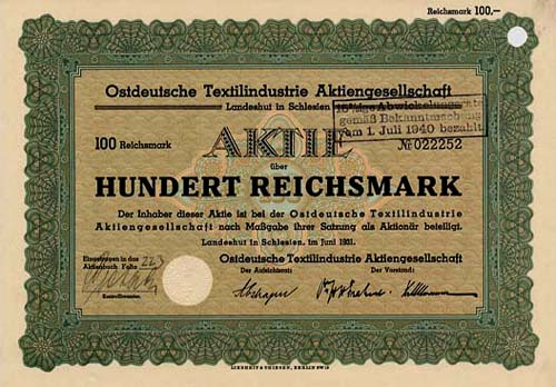 Ostdeutsche Textilindustrie