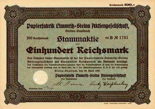 Papierfabrik Limmritz-Steina