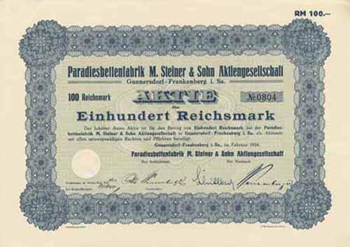 Paradiesbettenfabrik M. Steiner & Sohn