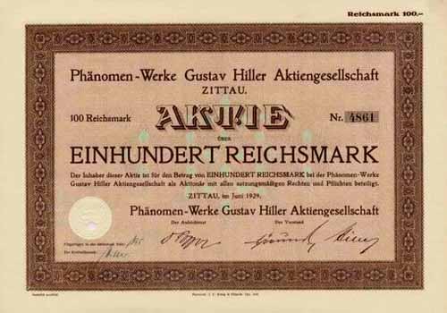Phänomen-Werke Gustav Hiller