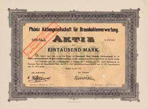 Phönix AG für Braunkohlenverwertung