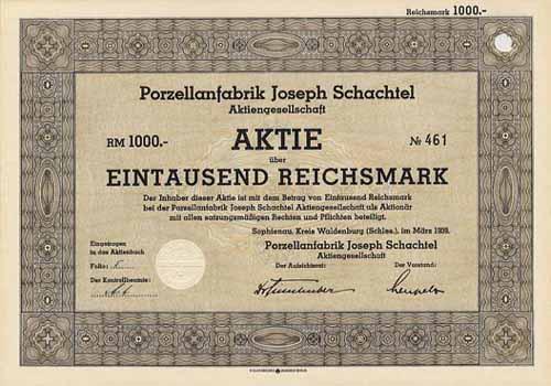 Porzellanfabrik Joseph Schachtel
