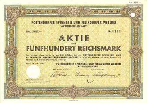 Pottendorfer Spinnerei und Felixdorfer Weberei