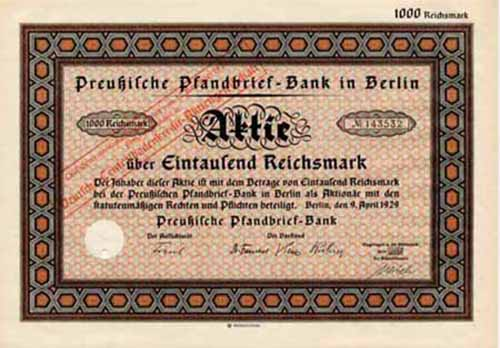 Preußische Pfandbrief-Bank in Berlin