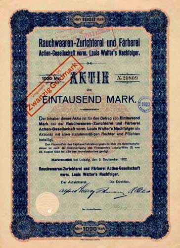Rauchwaaren-Zurichterei und Färberei vorm. Louis Walter's Nachfolger