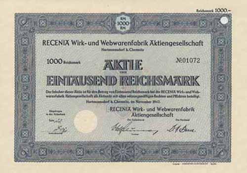 RECENIA Wirk- und Webwarenfabrik