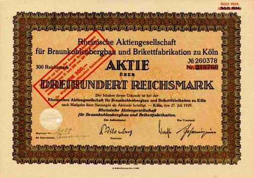 Rheinische AG für Braunkohlenbergbau und Brikettfabrikation