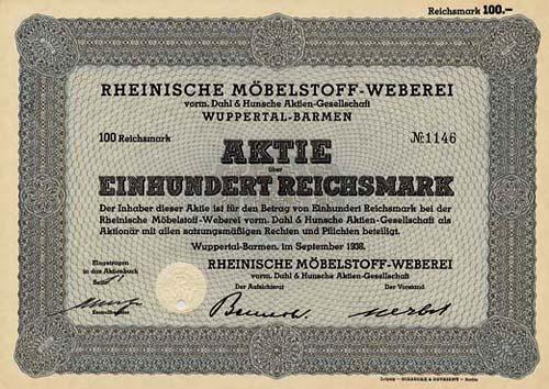 Rheinische Möbelstoff-Weberei vorm. Dahl & Hunsche