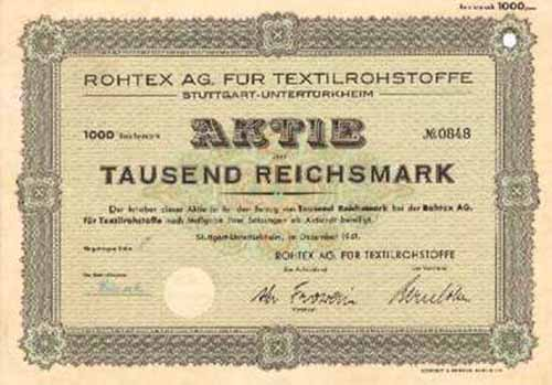 Rohtex AG für Textilrohstoffe