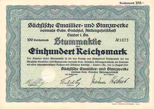 Sächsische Emaillier- und Stanzwerke vorm. Gebr. Gnüchtel