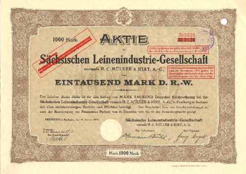 Sächsische Leinenindustrie-Gesellschaft vormals H. C. Müller & Hirt