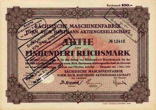 Sächsische Maschinenfabrik vorm. Rich. Hartmann