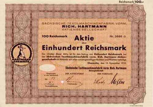 Sächsische Textilmaschinenfabrik vorm. Rich. Hartmann