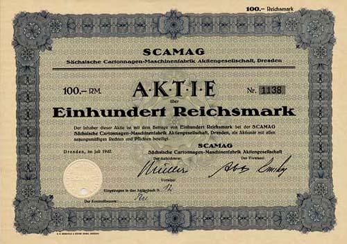 SCAMAG Sächsische Cartonnagen-Maschinenfabrik