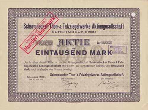 Schermbecker Thon- & Falzziegelwerke