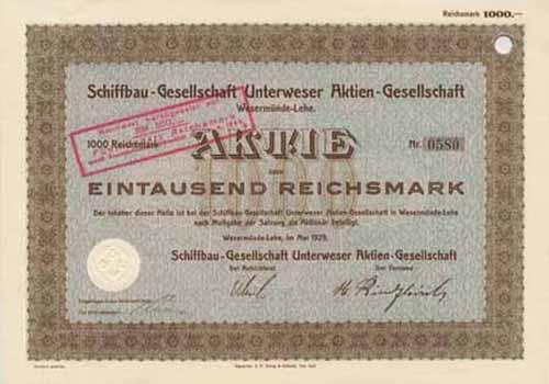Schiffbau-Gesellschaft Unterweser